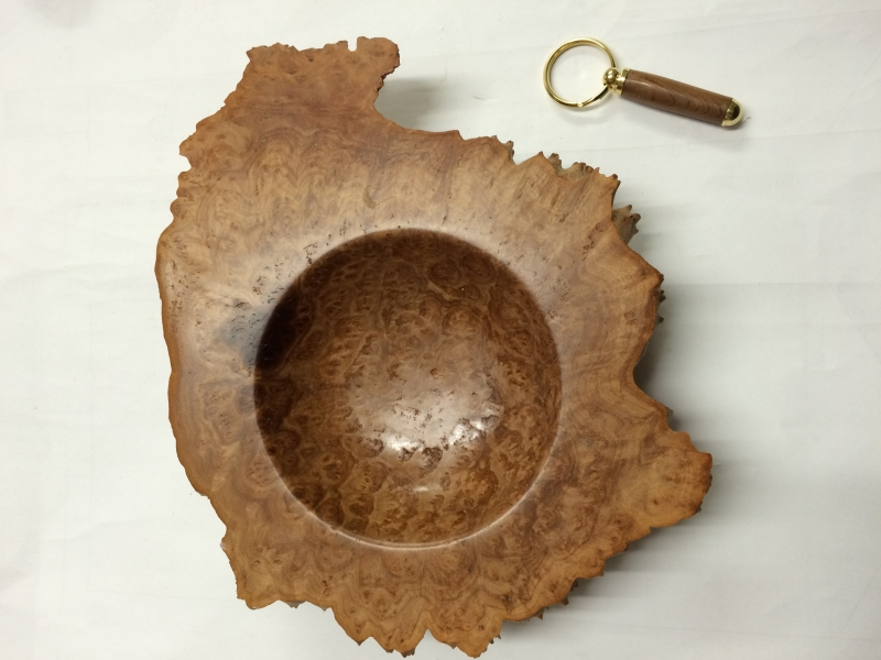Natural edge burl bowl